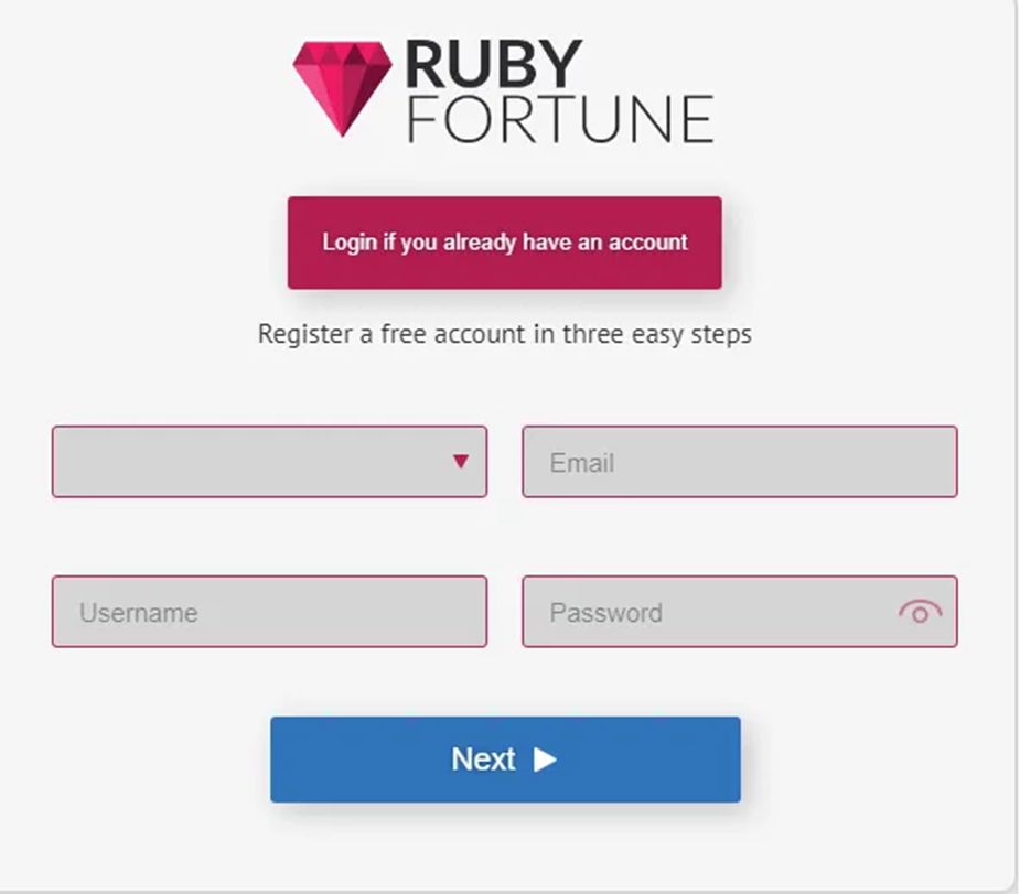 Ruby Fortune Login